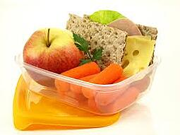 A bowl of healthy snacks. Link takes you to CDC's Cool Treats page.