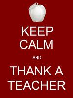 Keep calm and thank a teacher. Link goes to Facebook's profilepicframes.