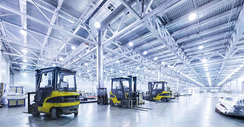 HTF Completes New LED Warehouse Lighting for Energy Savings