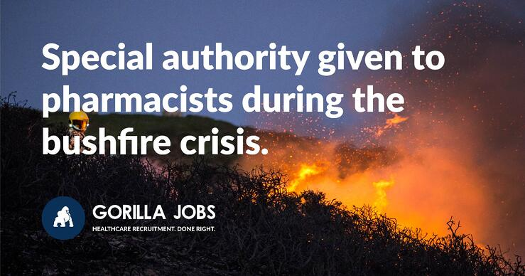 Special authority given to pharmacists in NSW, VIC and ACT during the bushfire crisis.