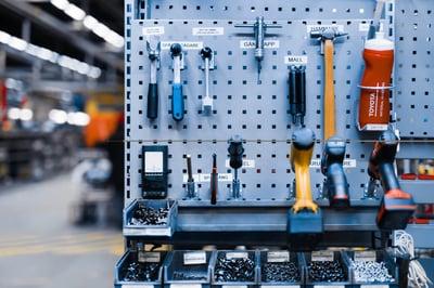 herramientas organizadas según el 5s