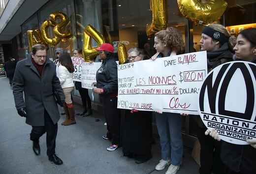 Protest at CBS shareholder meeting
