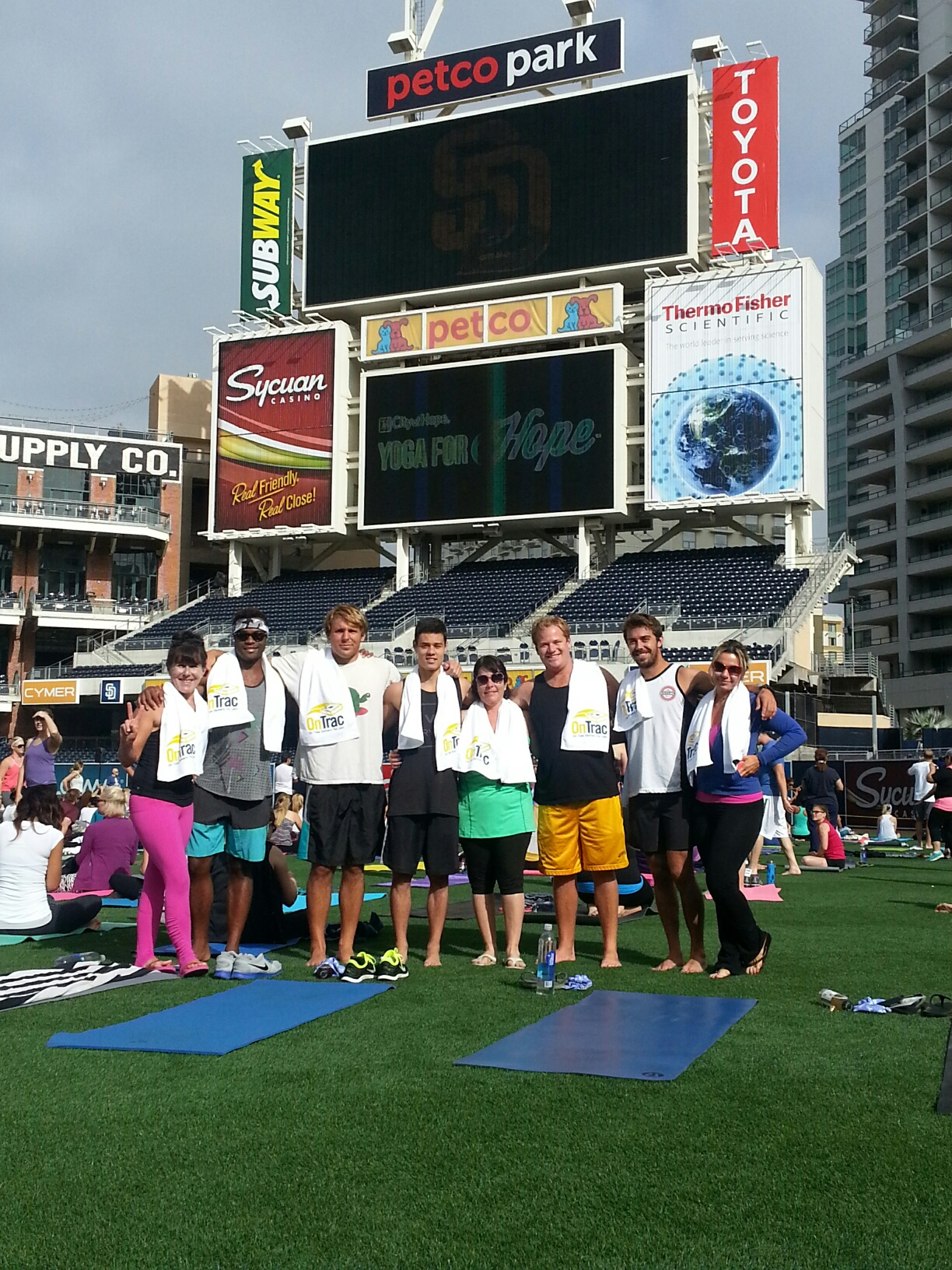 OnTrac Delivering Hope at Yoga for Hope