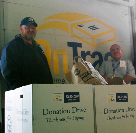 OnTrac delivers donations to St. Vincent de Paul