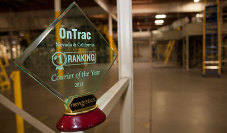 OnTrac Wins 2011 Courier of the Year