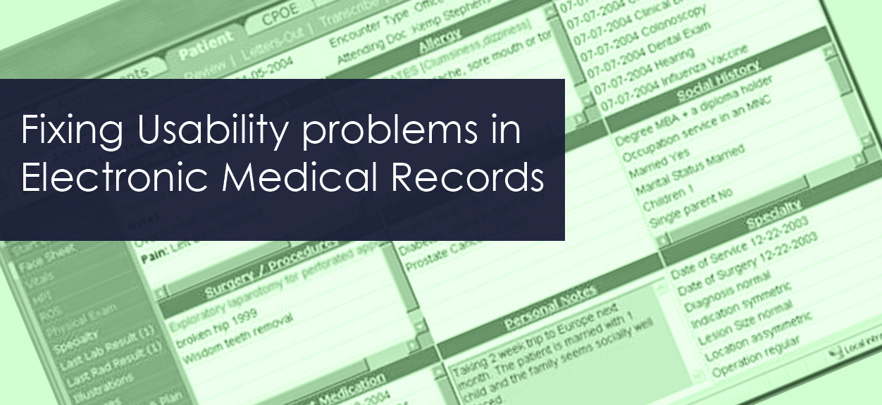 Usability Problems in Electronic Medical Records - Reports From the Field