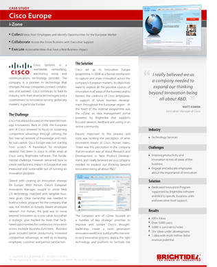 cisco case anaylsis View homework help - cisco_it_case_study_b2b from ism 5030 at nova southeastern university cisco it case study business-to-business how cisco enables electronic.