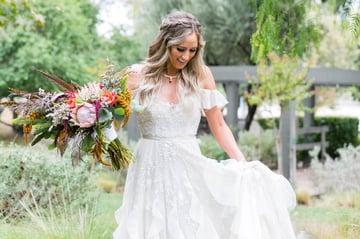 Unique Affordable Wedding Dress | Galway Downs | Wedgewood Weddings