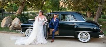 Bride & Groom In Classic Car | Wedgewood Weddings