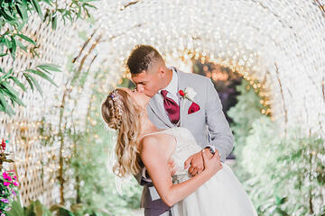 Couple Kissing - Orchard - Menifee, California - Riverside County - Wedgewood Weddings