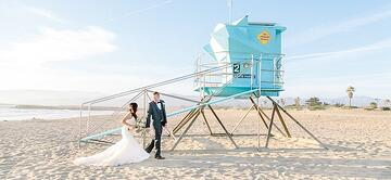 Beach Wedding - Pacific View Tower Club - Oxnard, California - Ventura County - Wedgewood Weddings