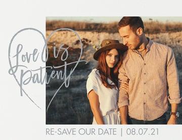 Love is Patient | Wedding Postponement Announcement