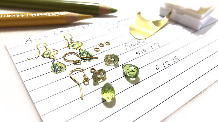 Anne Thompson Peridot Custom Earrings-1