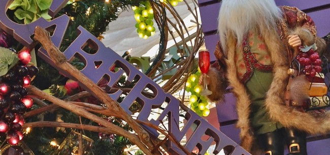 The Holiday Libations Tree and Tabletop Treasures