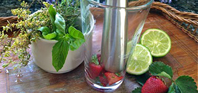 Garden To Glass-Herb and Produce Loaded Drinks