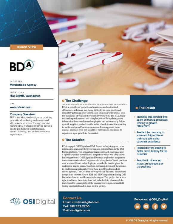 Quick View: BDA