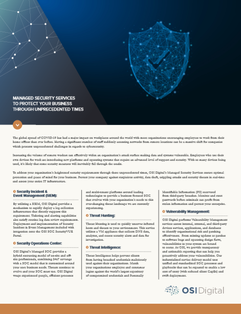 Data Sheet: Managed Security Services