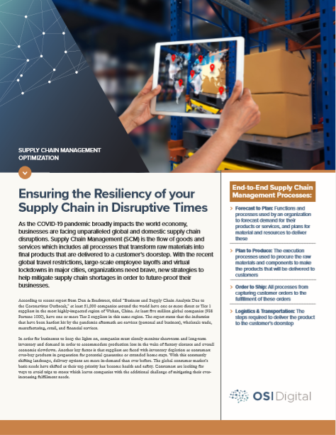Data Sheet: Supply Chain Management Optimization