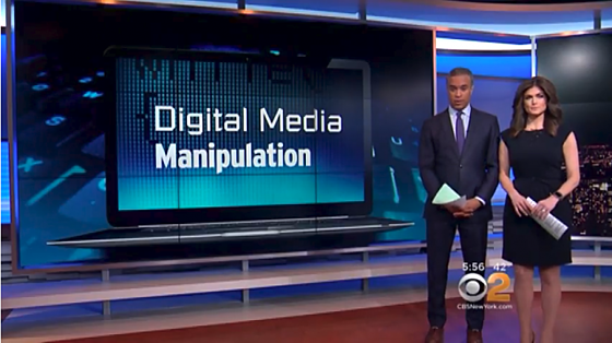 Digital Media Manipulation - CBS NY