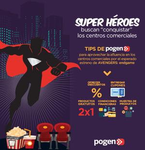 """Superhéroes buscan """"conquistar"""" los centros comerciales"""