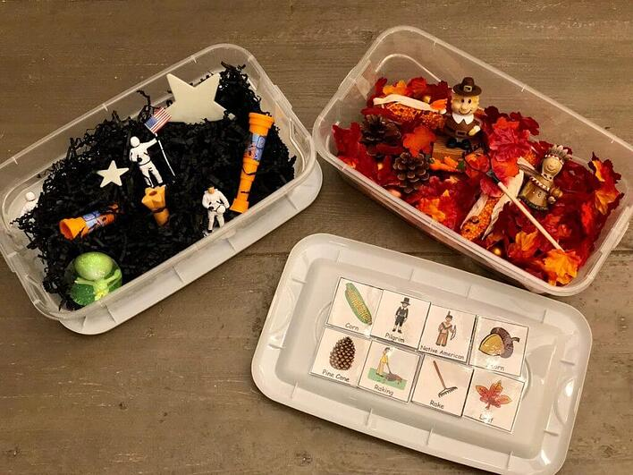 Sensory Boxes For Increasing Vocabulary