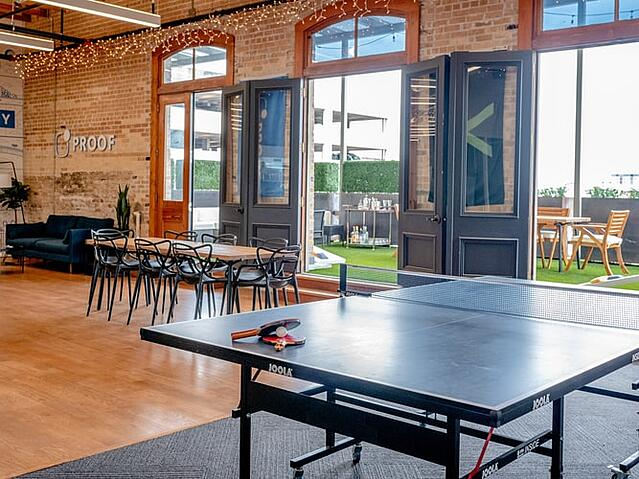 The benefit of creating an office breakout space for staff