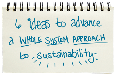 6 ideas to advance a whole system approach to sustainability