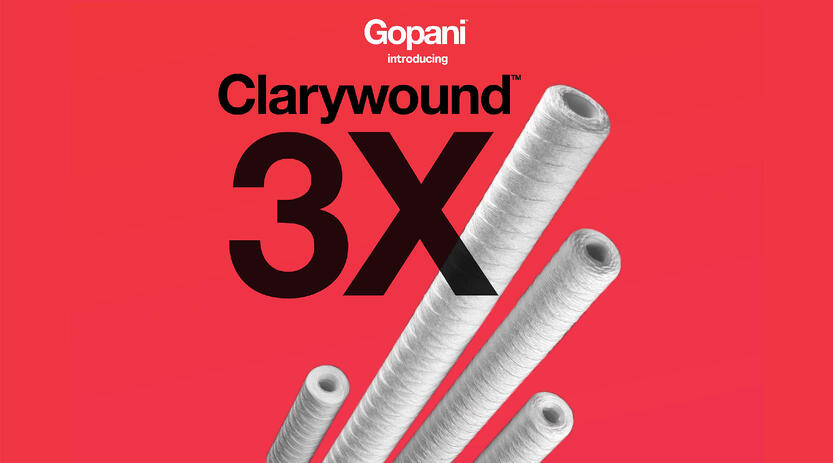 Gopani Launches Clarywound 3X - String Wound Filter Cartridges
