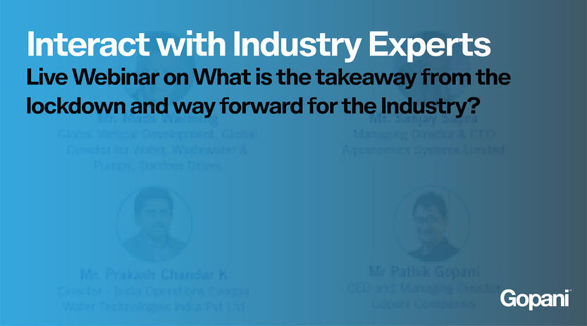 Interact with Industry Experts at a Live Webinar by Water Today