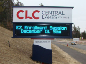 Central Lakes College Monument Sign