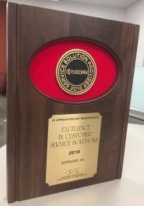 Matthijssen, Inc. Awarded Kyocera's 2018 Service Solution Provider Award