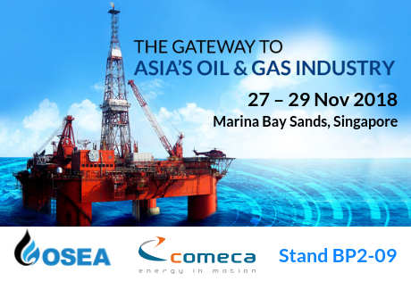 COMECA at OSEA 2018 O&G exhibition, Singapore