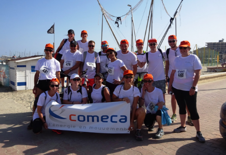 Charity run with comeca team