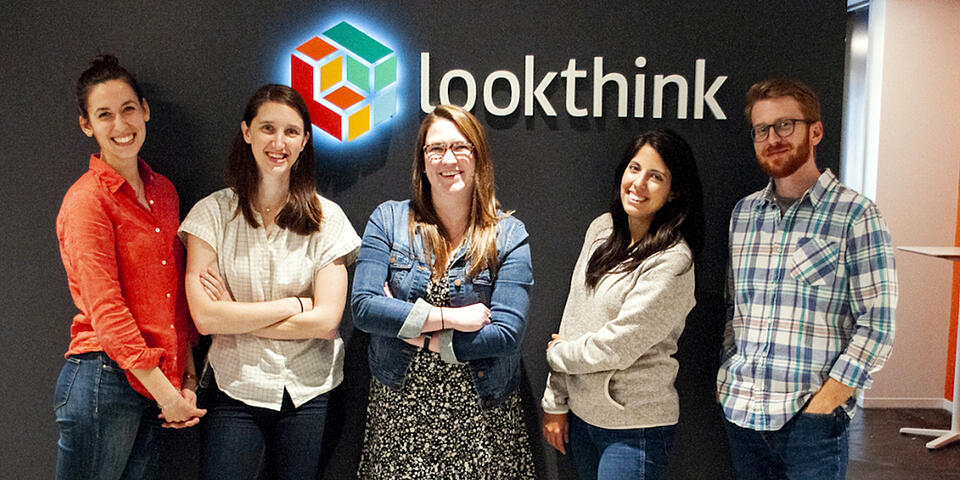Project Strategists of LookThink: Ellen, Laura, Rachel, Nicole, and Chandler