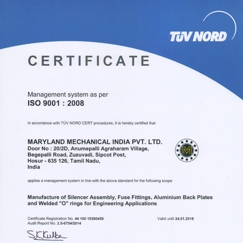MMI Receives ISO 9001:2008 Certification for India Manufacturing Facility