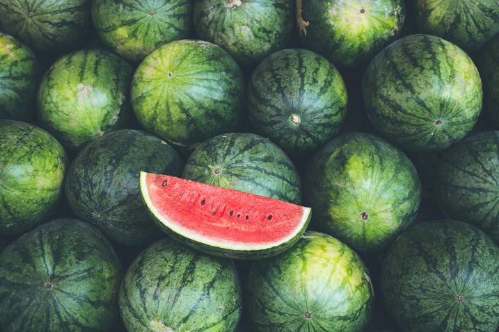 Foodservice use of watermelons growing rapidly