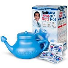 neti pot singing with cold