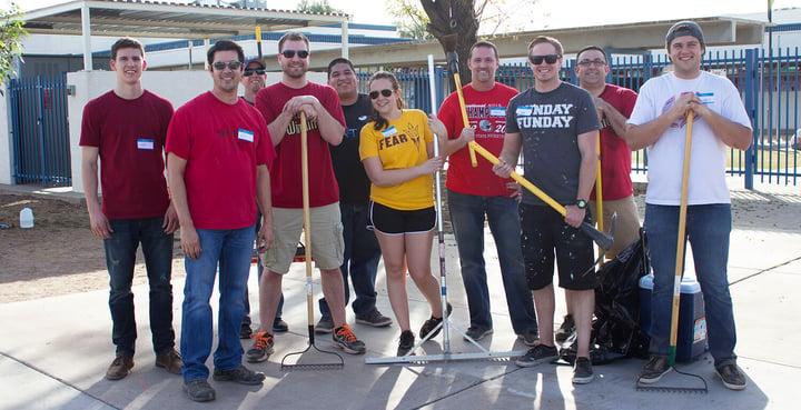#LTbelieves: Volunteer Day at Maie Bartlett Heard Elementary School