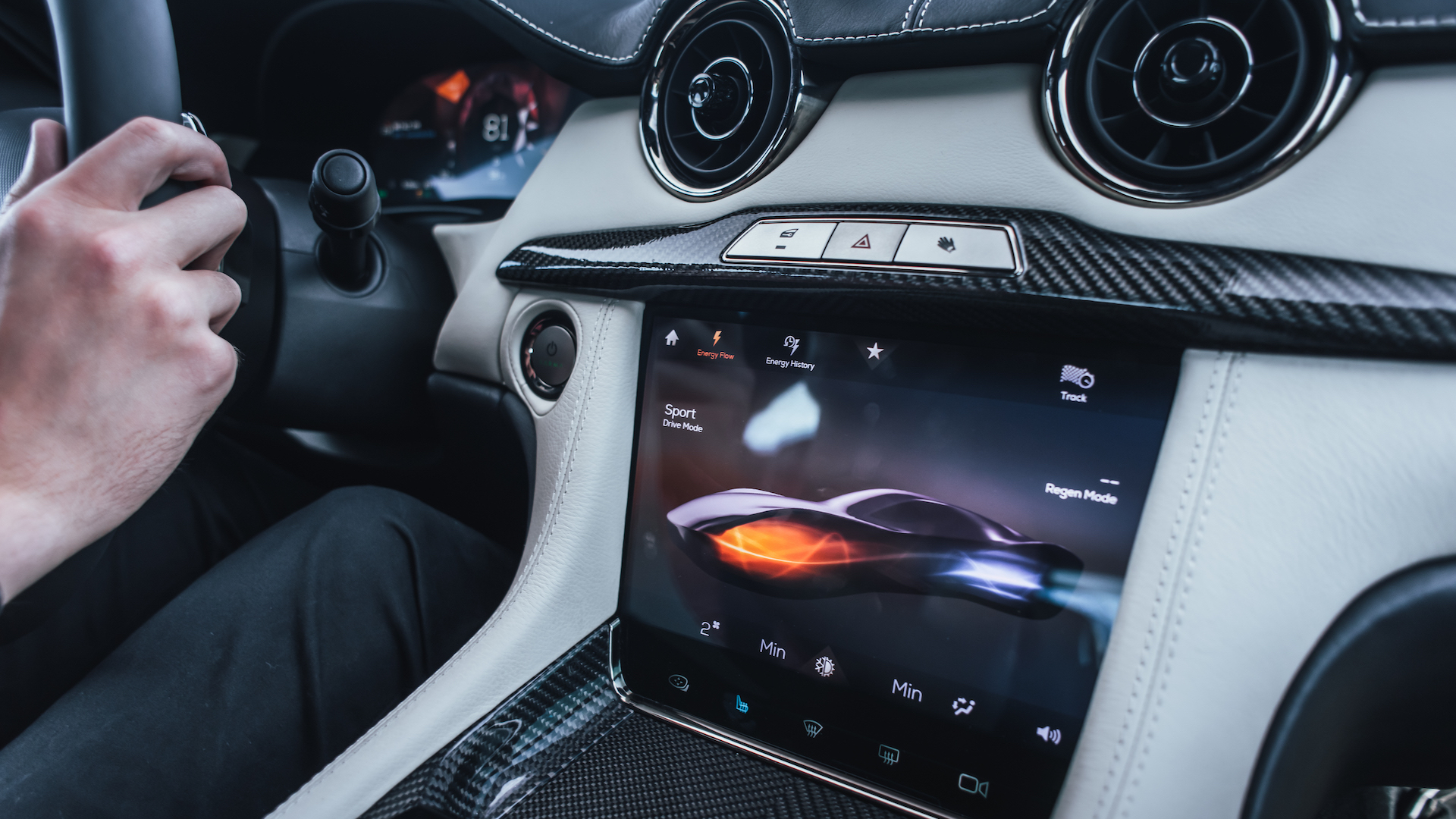 Kanzi UI software used in the Revero GT