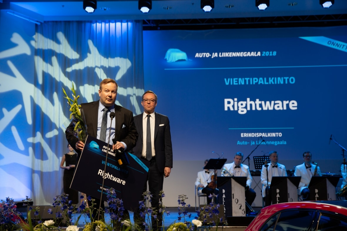 Rightware rewarded at Finland's Auto and Transportation Gala 2018