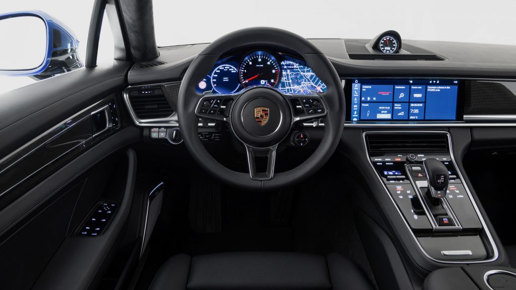 An example of a car with a digital dashboard