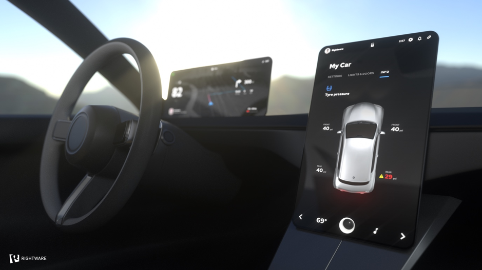 Picture of in vehicle infotainment dashboard