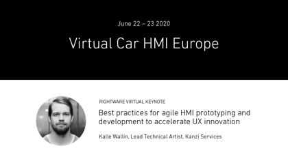 Virtual Car HMI, June 22-23, 2020