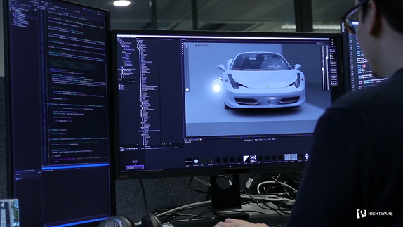 The Secret Ingredient in Agile Automotive HMI Development: The Technical Artist - image of Kanzi software.