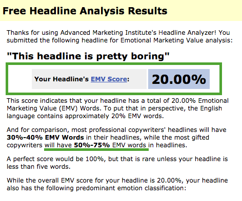 Emotional headline analyser