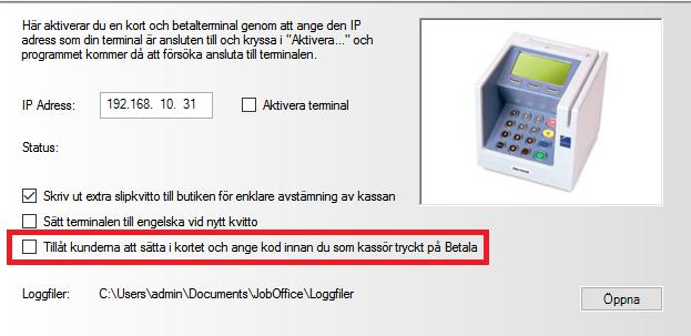 JobOffice Kassa med integration till Fortnox - Förberedelser