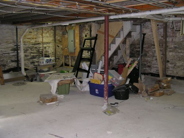 a tight lot eliminated an addition from consideration which meant that the basement was the only option heres what we started with