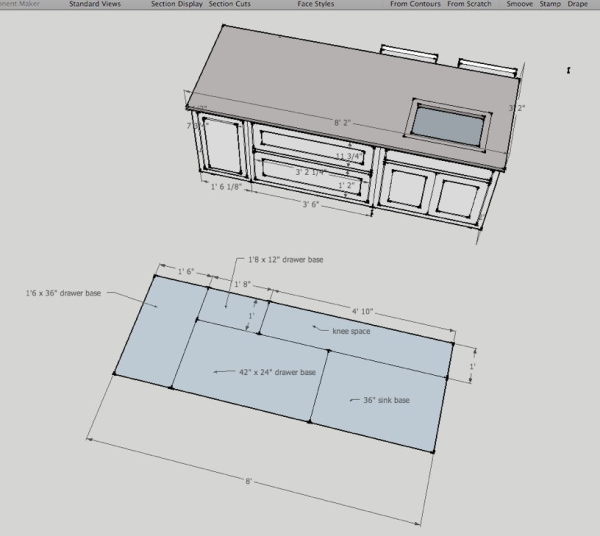 Typical Kitchen Island Dimensions: Case Study: Planning A Kitchen Renovation