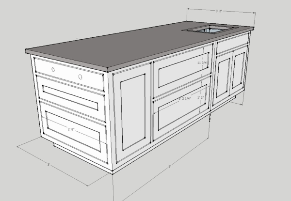 Download island cabinet plans plans free for Island cabinet plans