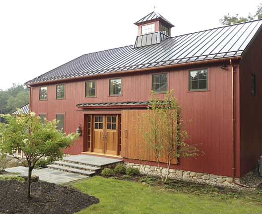 Historic renovation blog landmark services timber frame for Wood barn homes
